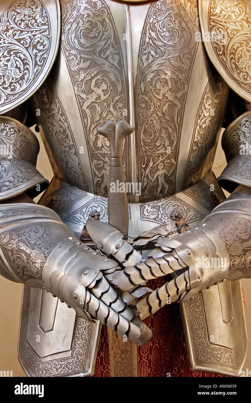 Rüstung auf den Souvenir-Shop von Toledo Castilla La Mancha Spanien Stockbild