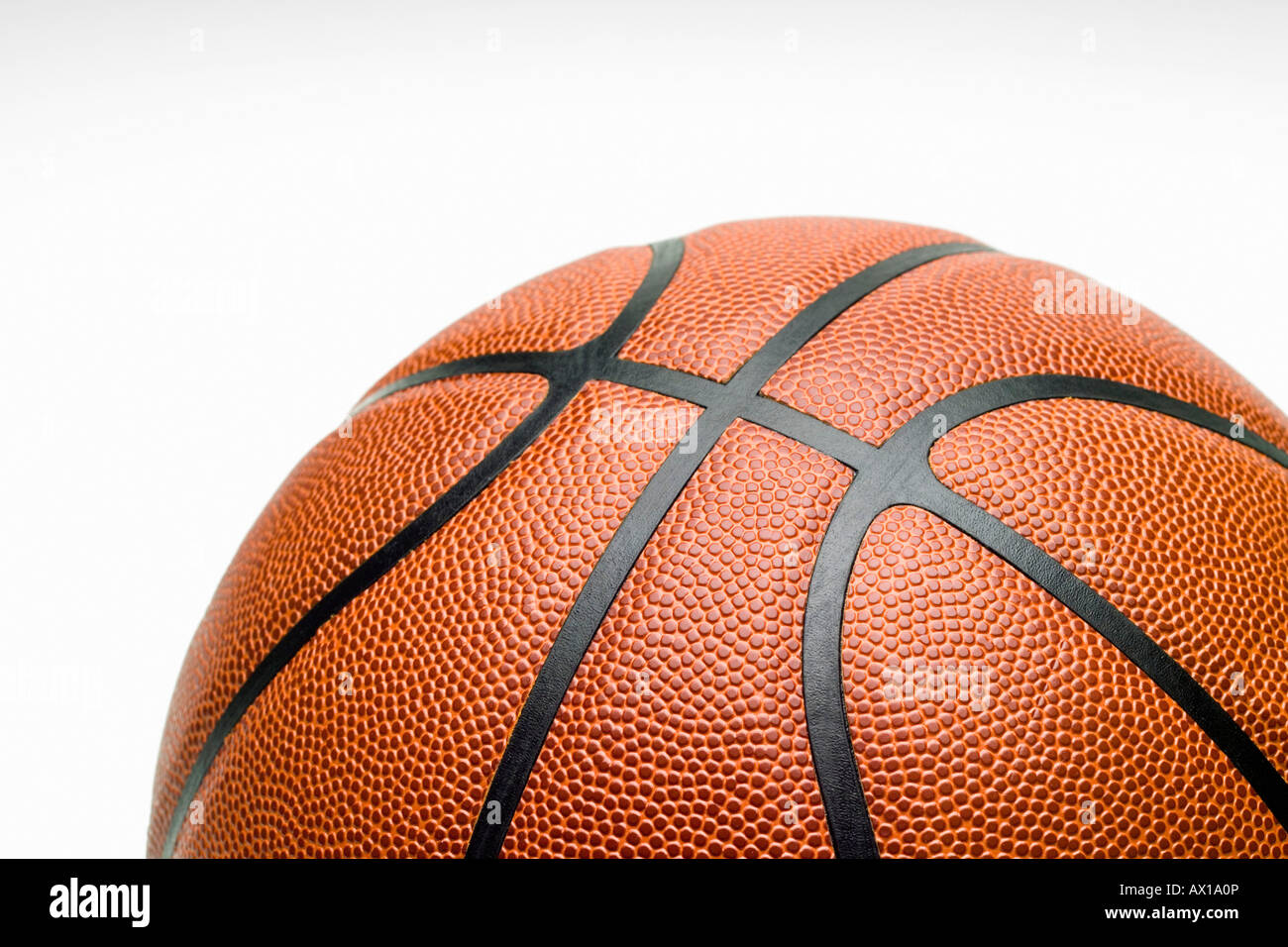 Studioaufnahme, Nahaufnahme von basketball Stockfoto