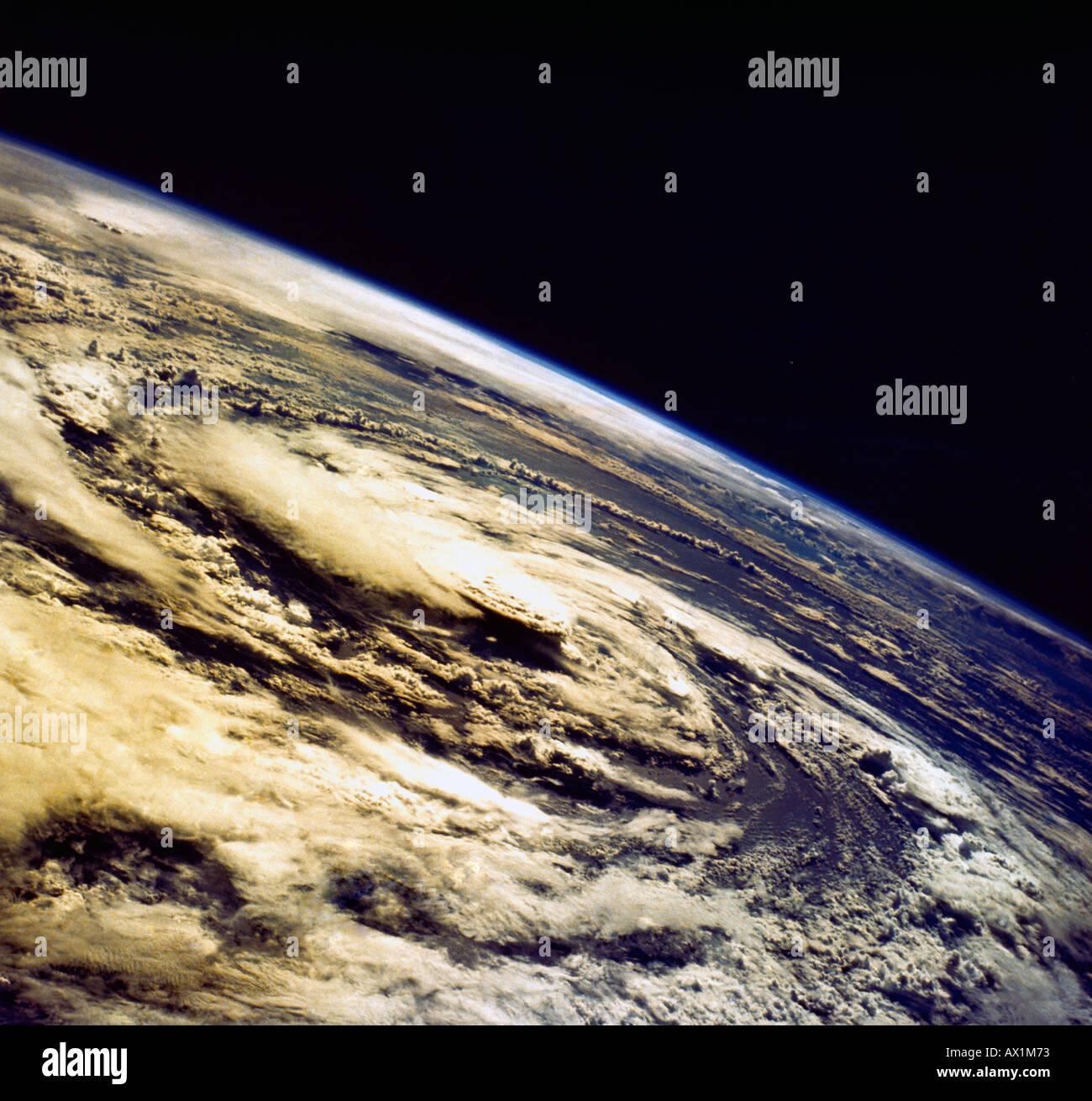 Hurrikan-Gladys aus dem Weltraum Stockbild