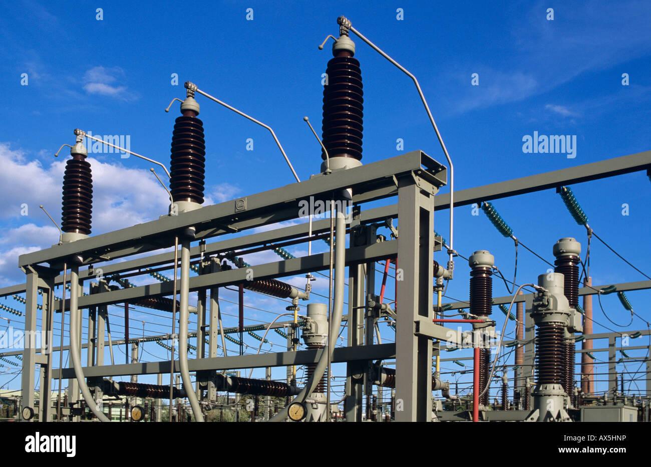 Detail, Kraftwerk Übertragung Stockbild