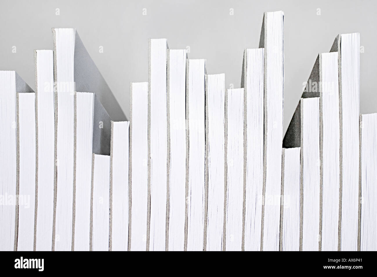 Notizblöcke arrangiert gerne ein Diagramm Stockfoto