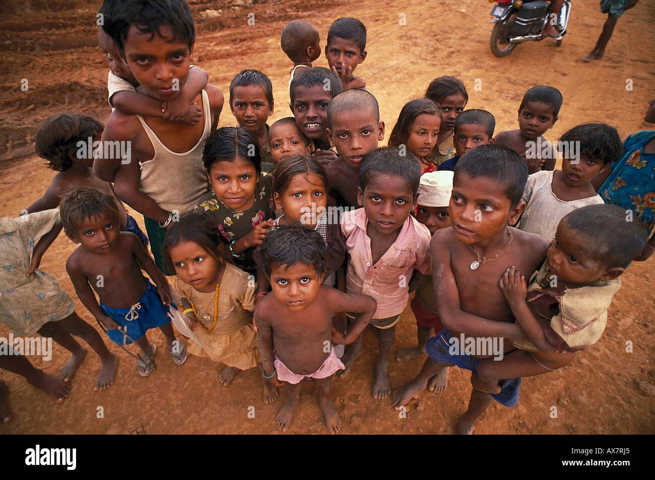 Kindergruppen, Goa, Indien Stockbild