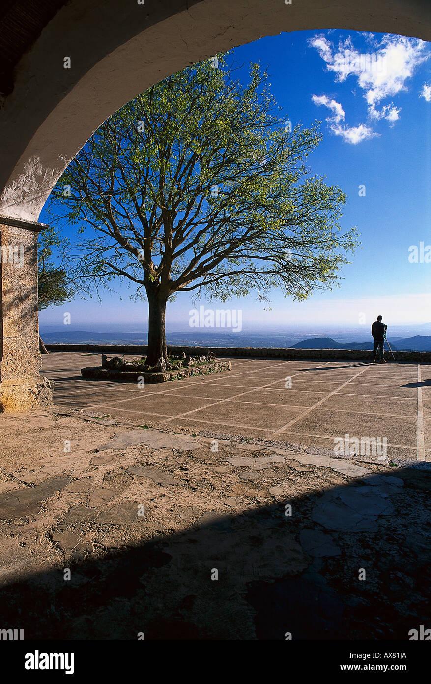 Blick Vom Castillo Alaró, Tramuntana, Mallorca, Spanien Stockbild