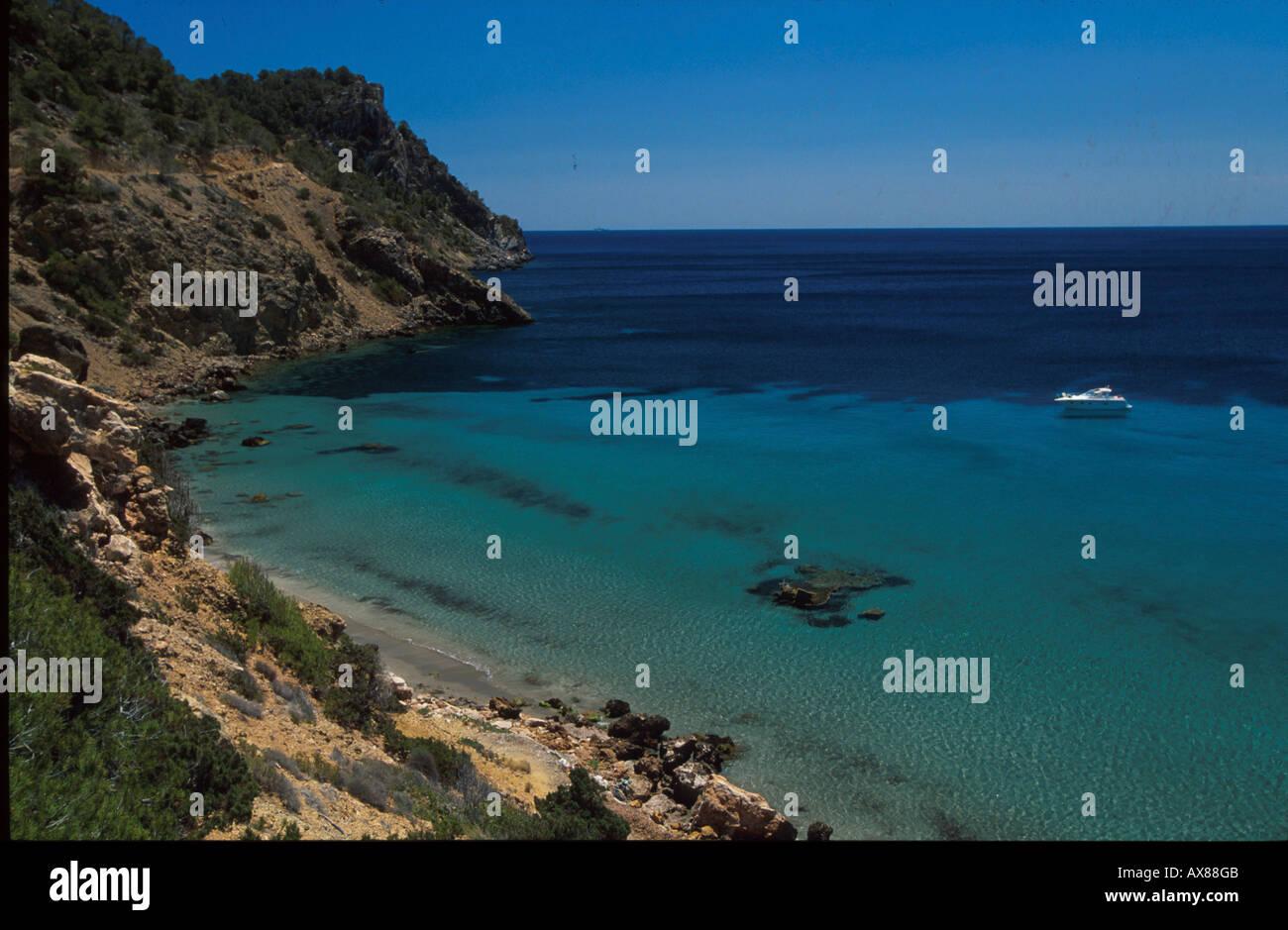 Bucht Cala Boix, Ostspitze von Ibiza Balearen, Spanien, Europa Stockbild