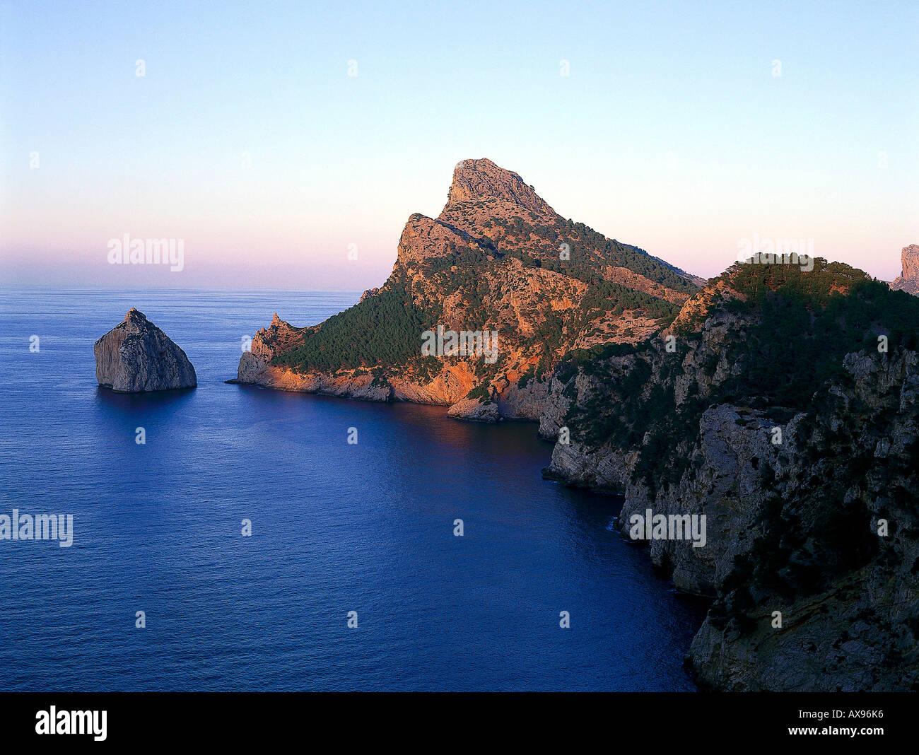 Cabo Formentor, Mirador Essen Colomer Mallorca, Spanien Stockbild