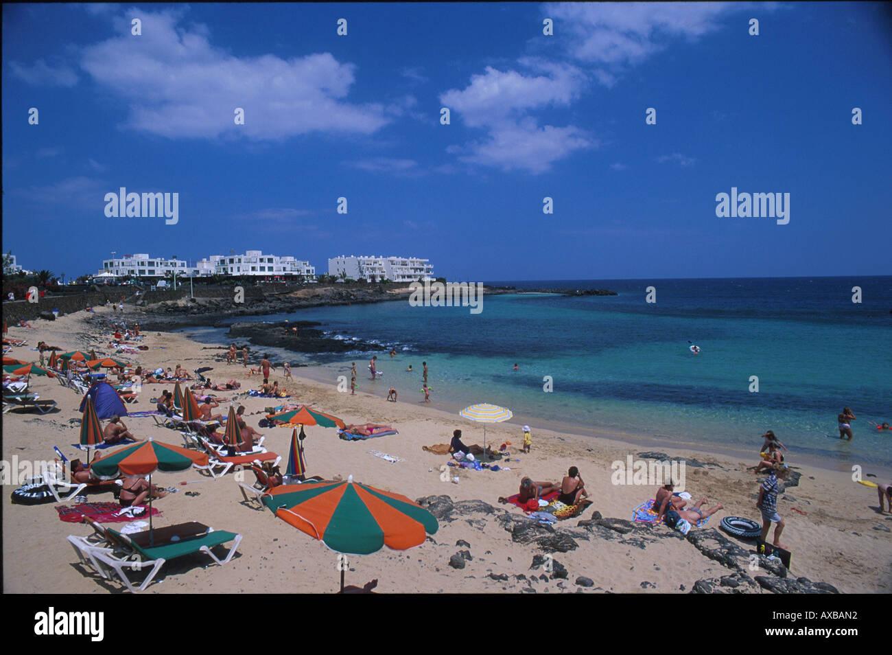 Playa de Jabillo, Lanzarote Kanarische Inseln, Spanien Stockbild