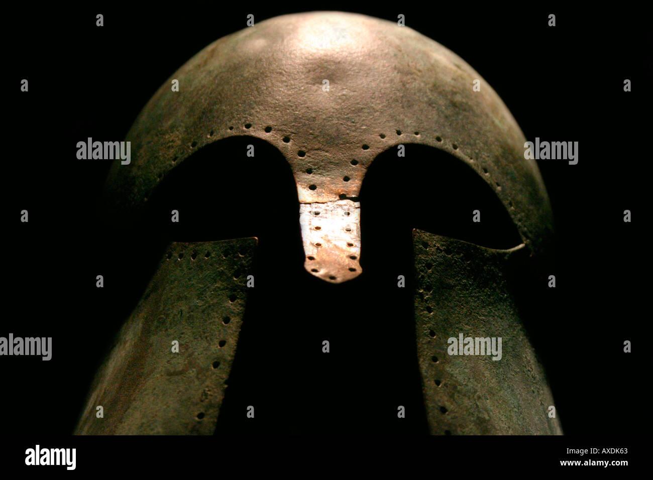 Mittelalterlicher Krieger Helm Stockbild