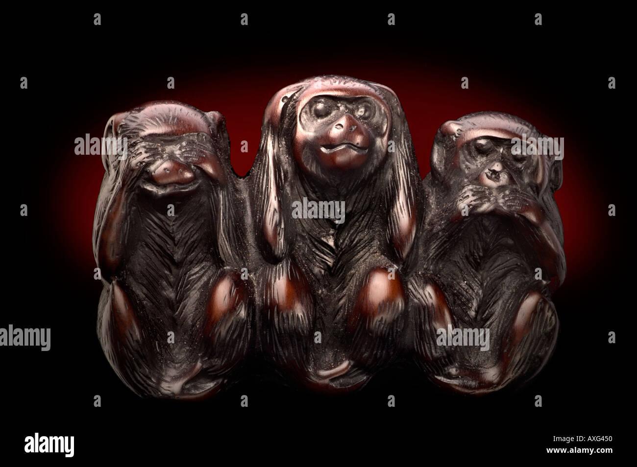 Nichts Sagen Three Monkeys Nichts Hören 3 Affen Nichts Sehen