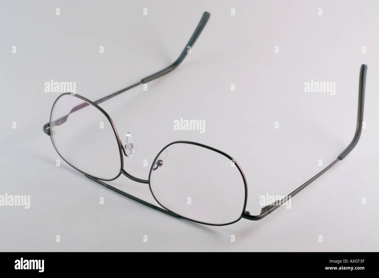 Bifokale Brille Stockbild