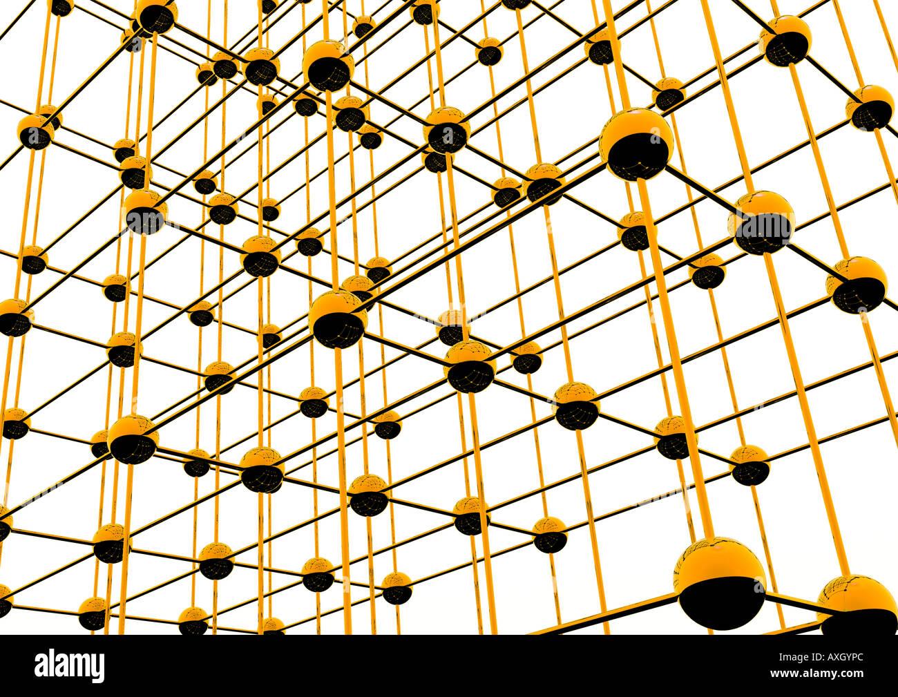 Netzwerkstruktur Netzwerk Struktur Stockbild