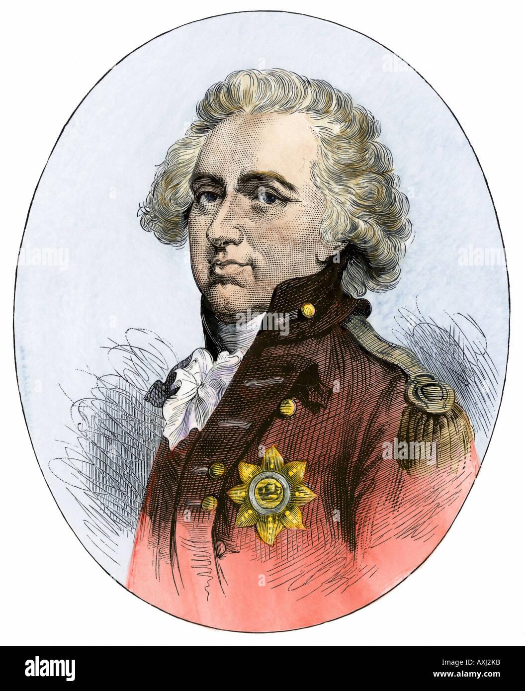 Henry Clinton britische Oberbefehlshaber während der amerikanischen Revolution Stockbild