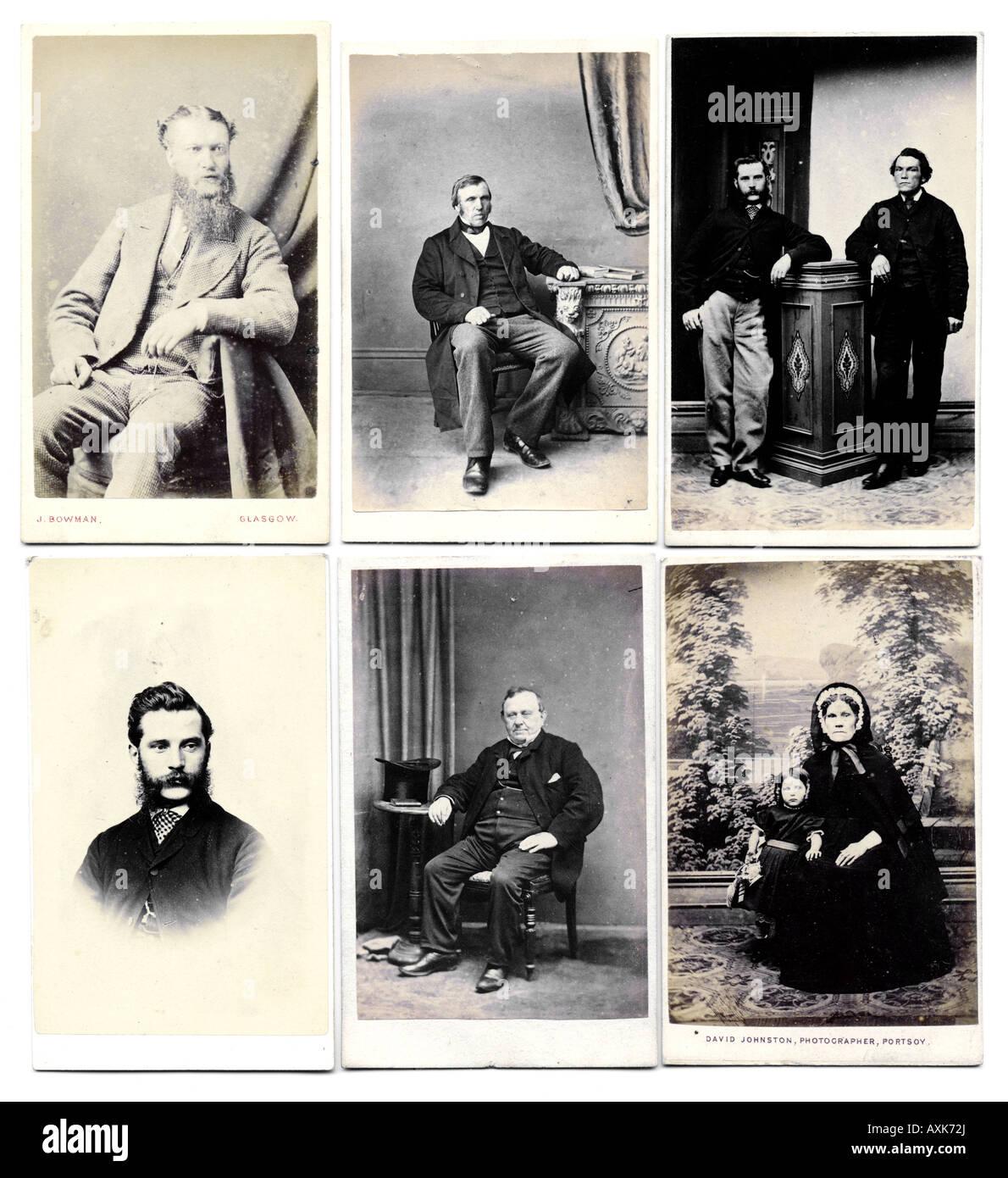 Viktorianische 1860er Jahre Carte De Visite CDV Alte Vintage Fotosammlung