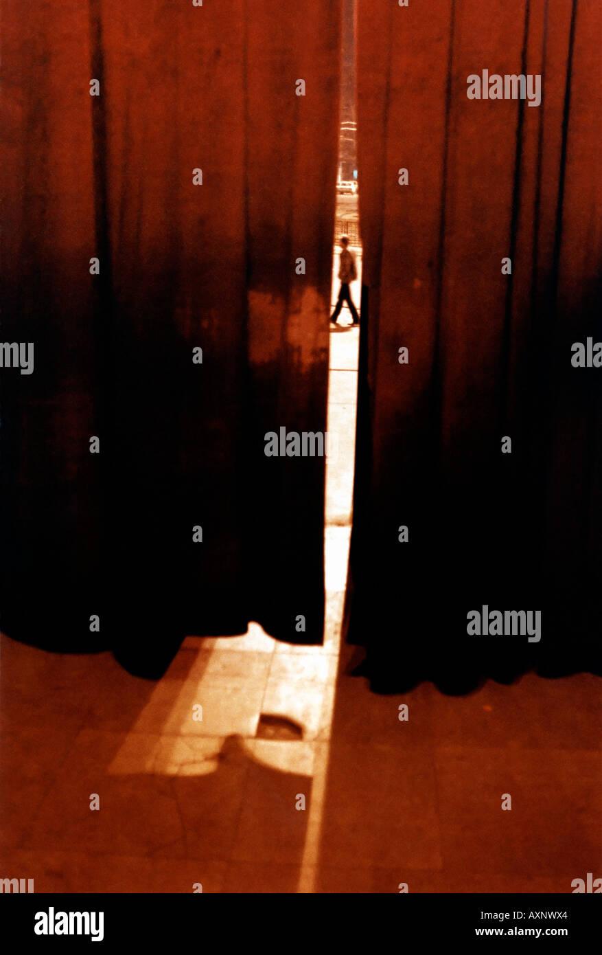 Schattenseiten Stockbild