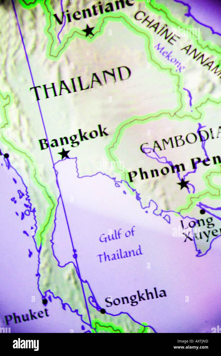 Karte Thailand Kambodscha.Aktuelle Karte Zeigt Die Länder Thailand Und Kambodscha In Asien