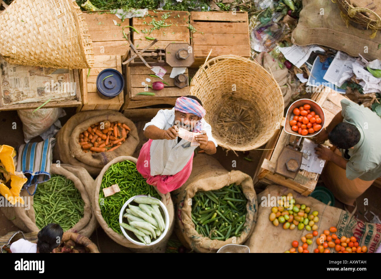 Markt, Trivandrum, Kerala, Indien Stockfoto
