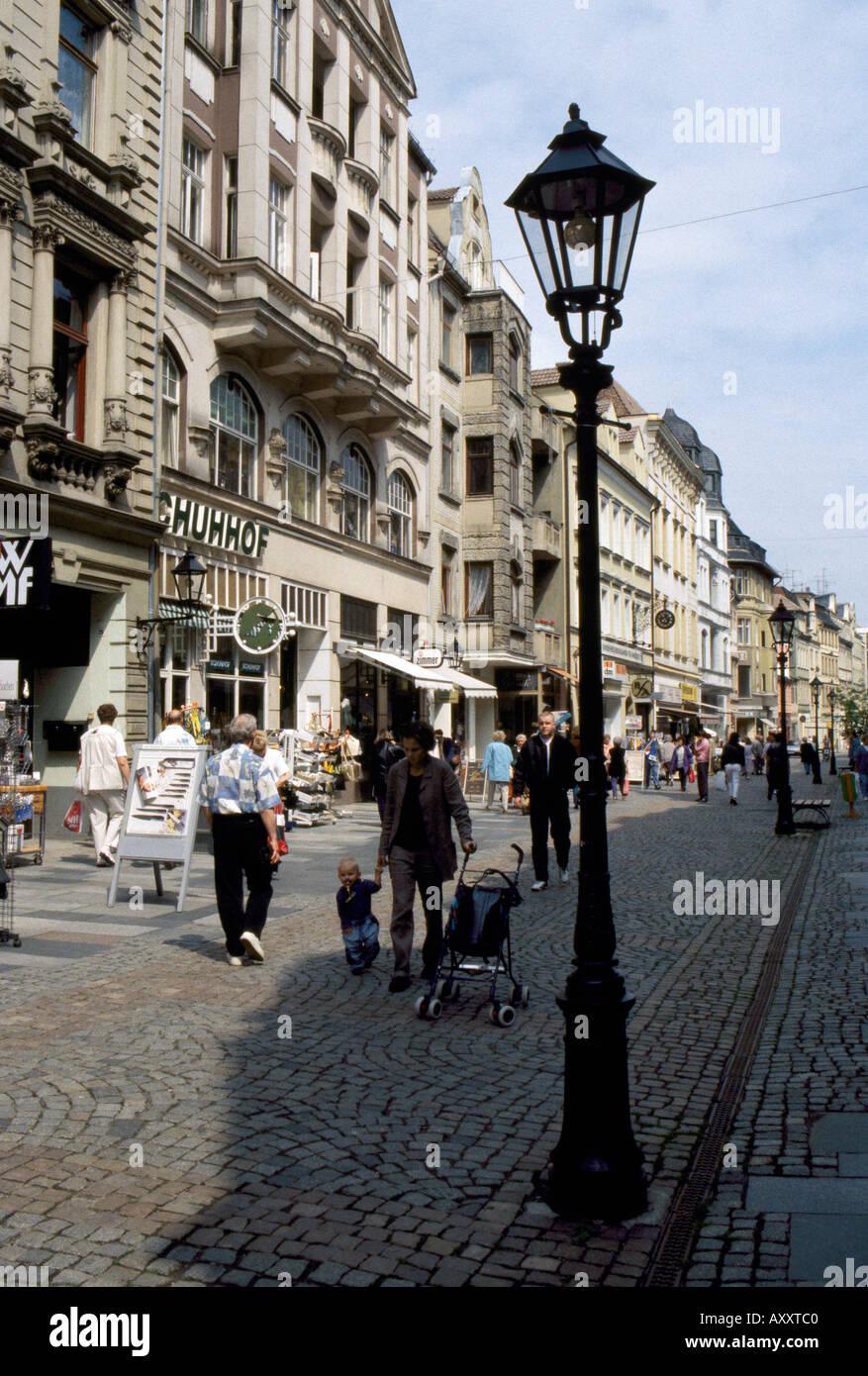 Zwickau, Fußgängerzone Stockbild
