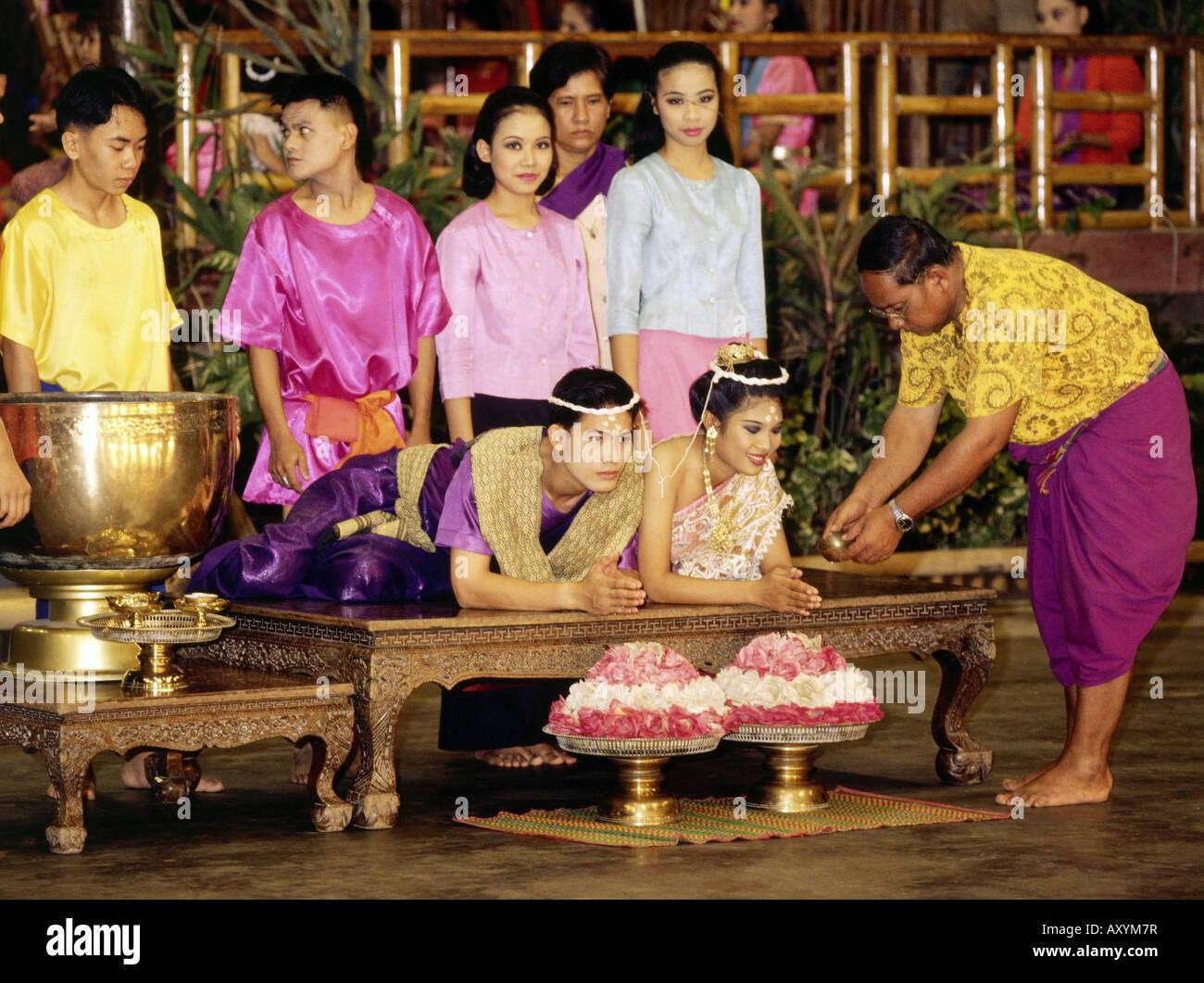 Geographie Reisen Thailand Demonstration Eine Buddhistische