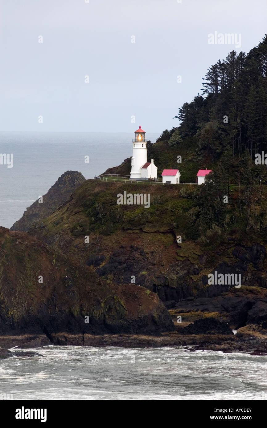 27. März 2008 zeigt der Heceta Head Leuchtturm in der Nähe von Florence, Oregon an der Pazifik-Küste. Stockbild
