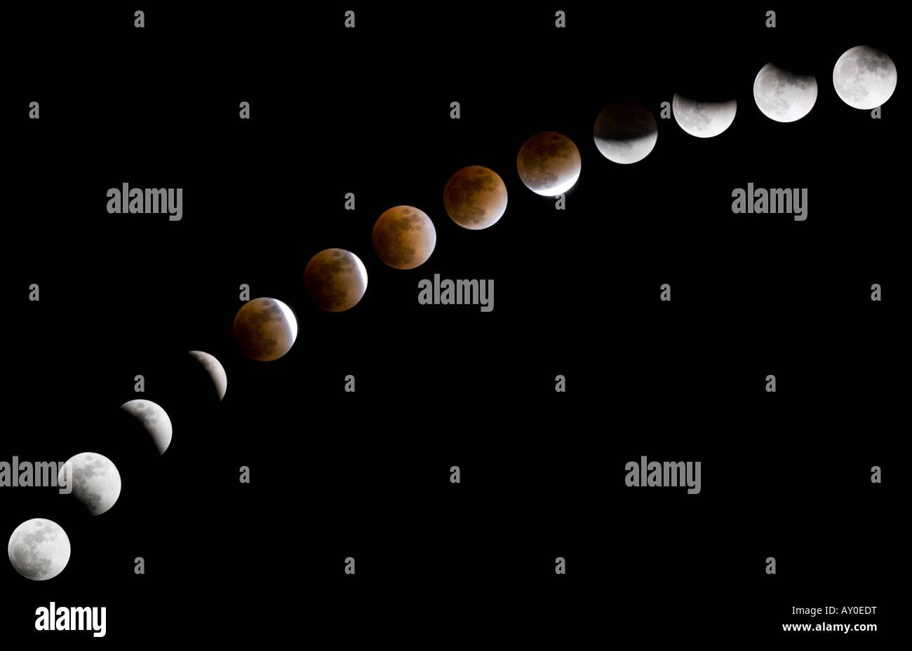 Mondfinsternis Stockbild