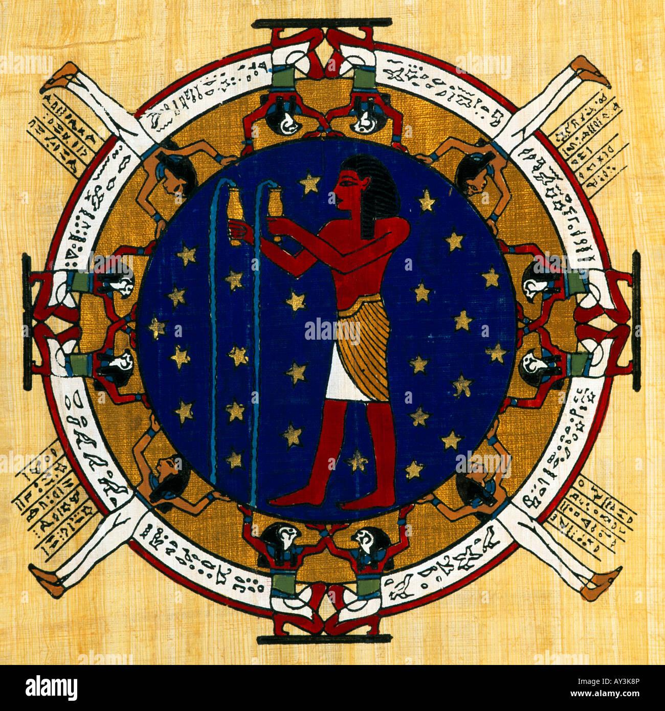 21 Januar Sternzeichen Ägypten-sternzeichen auf papyrus wassermann 21. januar bis 19