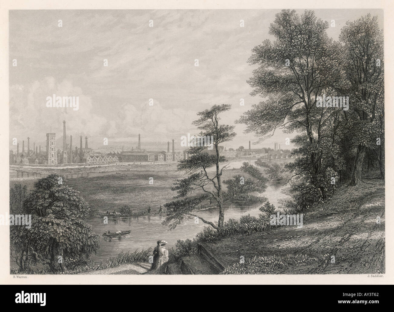 Industrie-Burton-On-Trent Stockfoto