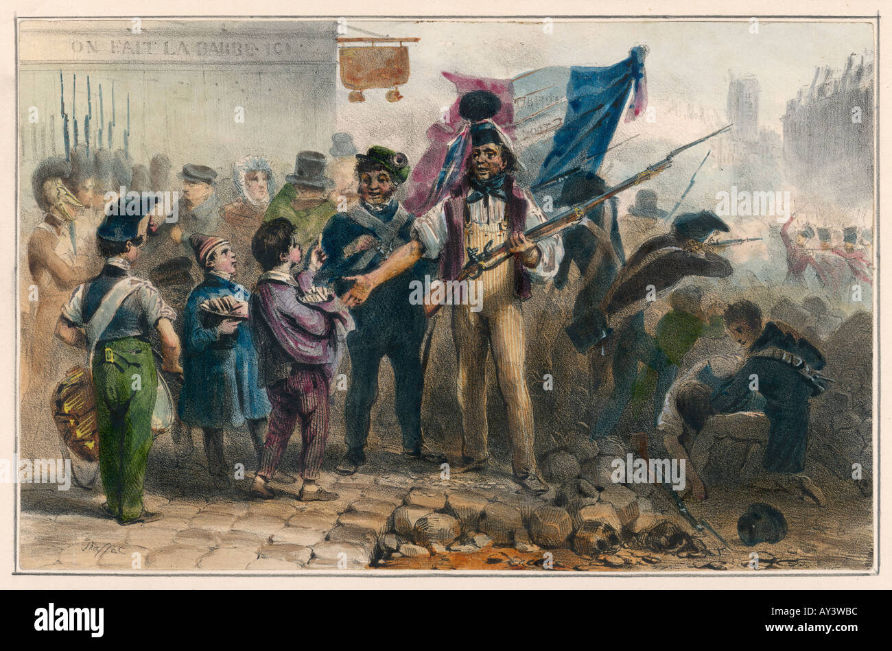 Revolution von 1830 Stockbild