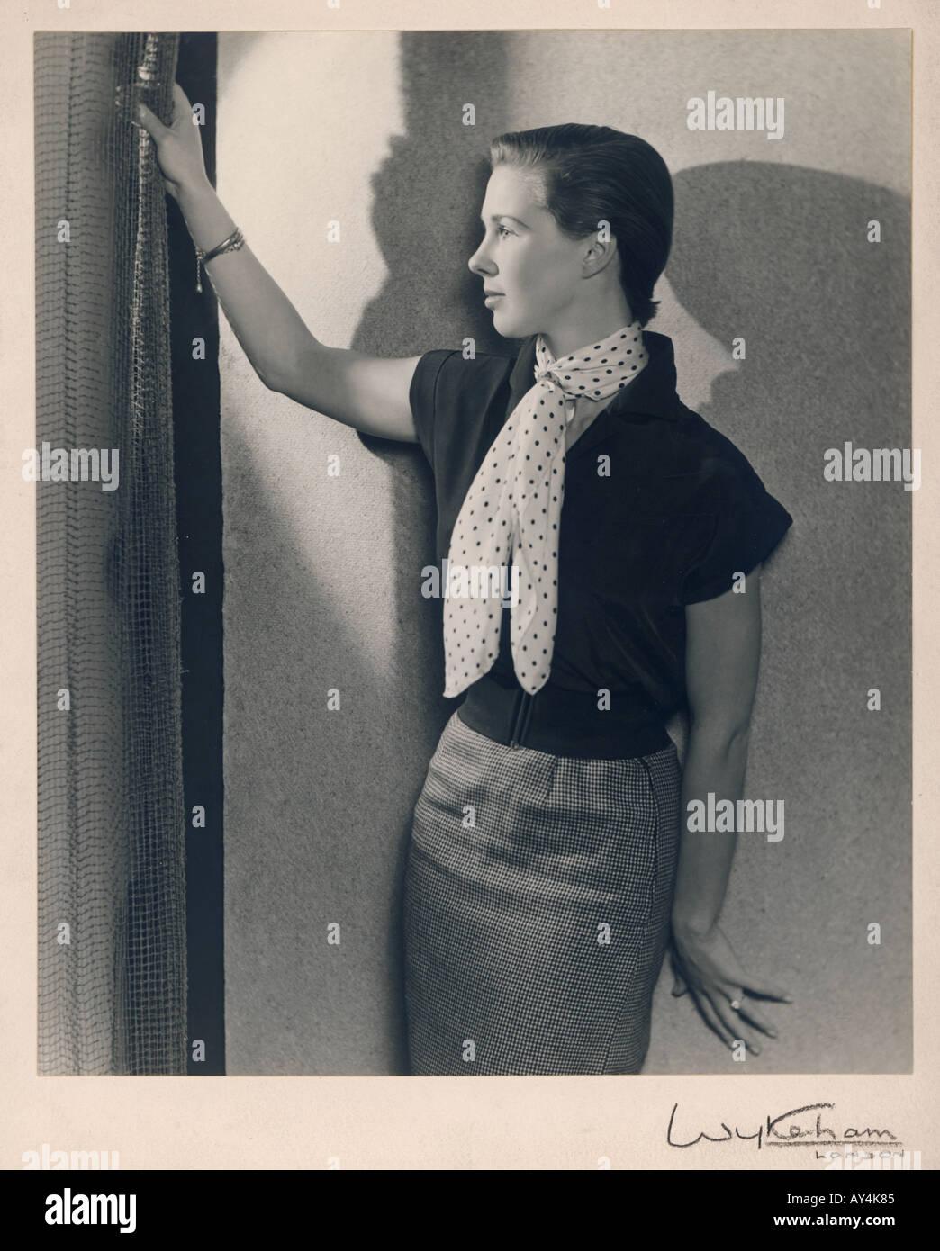 50er Jahre Girl von Wykeham Stockbild