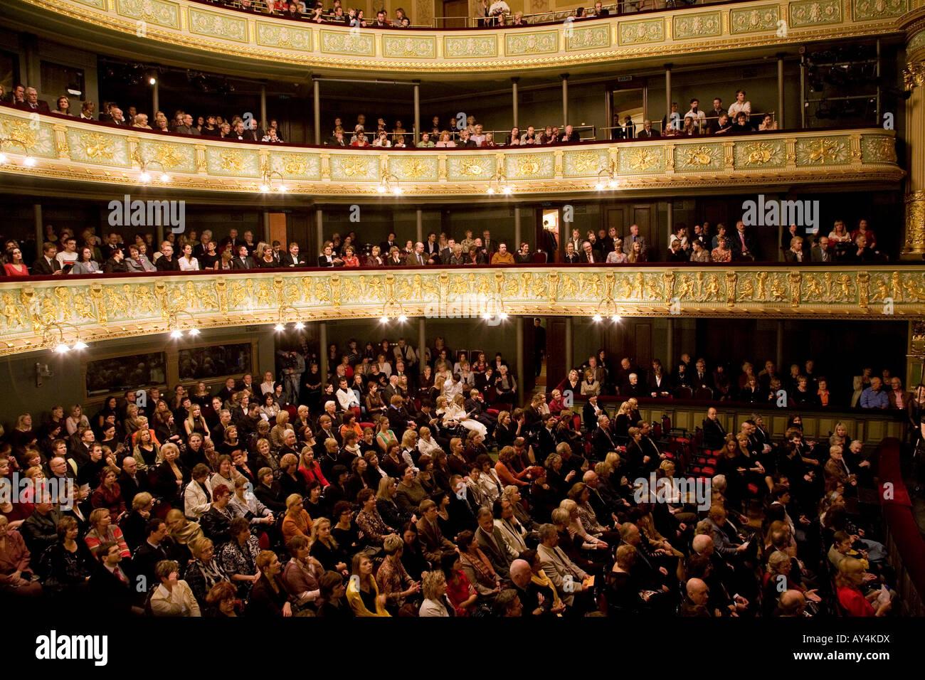 Oper in Riga Lettland Stockbild