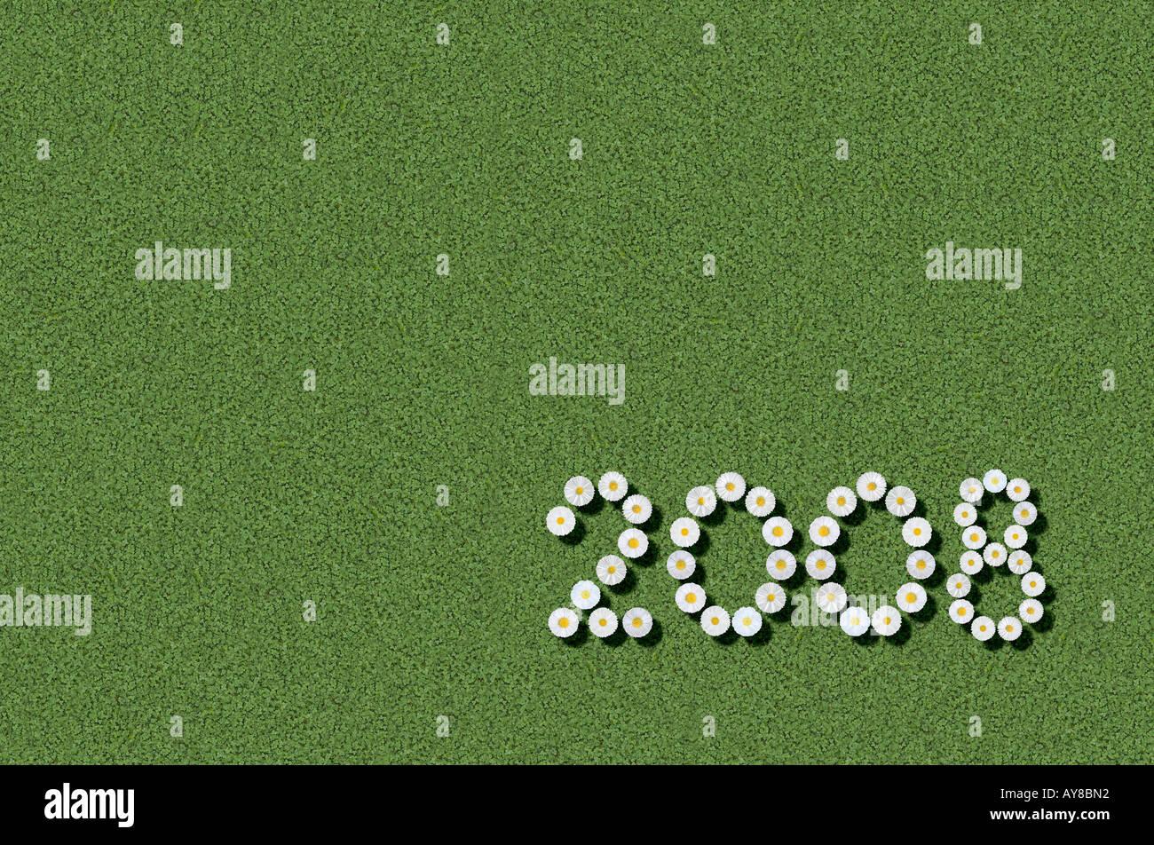 Jahr 2008 Stockbild