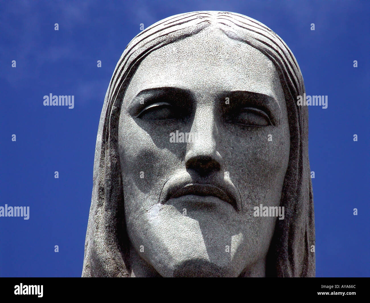 Christus der Erlöser Detail Rio de Janeiro RJ Brasilien Stockbild