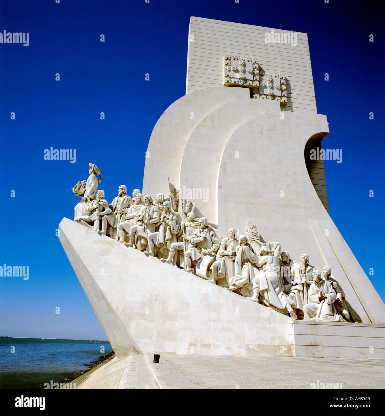 Discoverors Denkmal Lissabon Stockbild