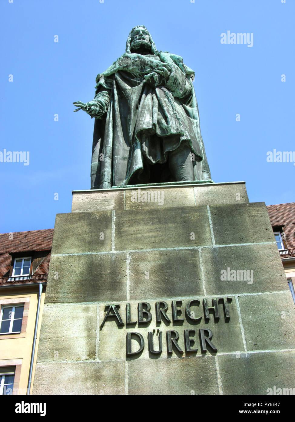 Nürnberg-Nürnberg-Nürnberg ALBRECHT DÜRER Dürer DURER Statue Denkmal Stockbild