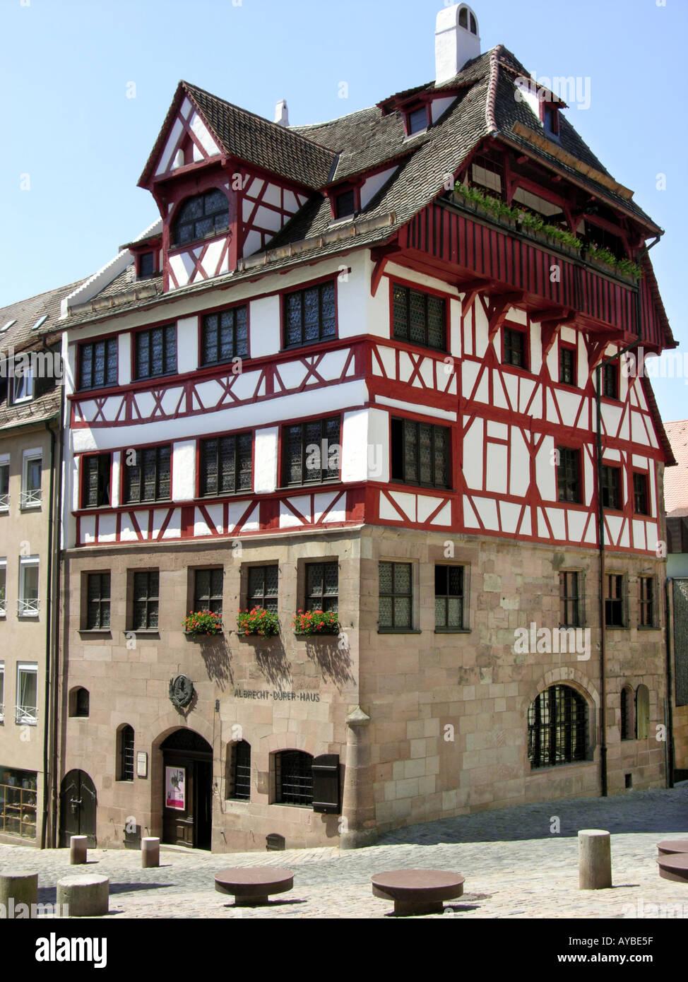 Nürnberg-Nürnberg-Nürnberg Albrecht Dürer Haus Durer Dürer Stockbild