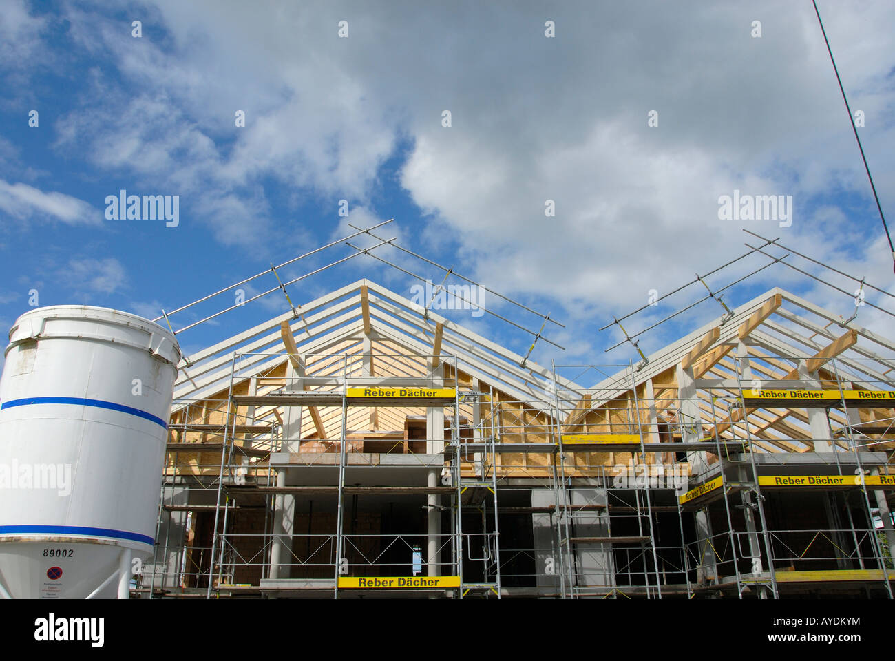 Baustelle auf der Coutryside Stockbild