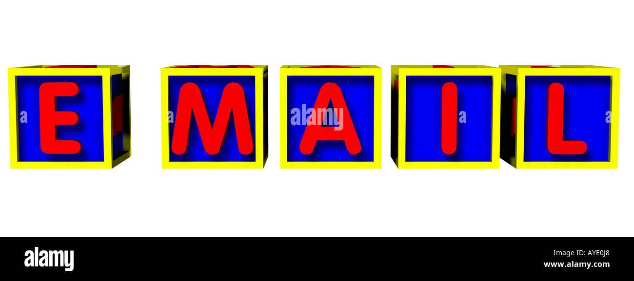 Wort e Mail Stockbild