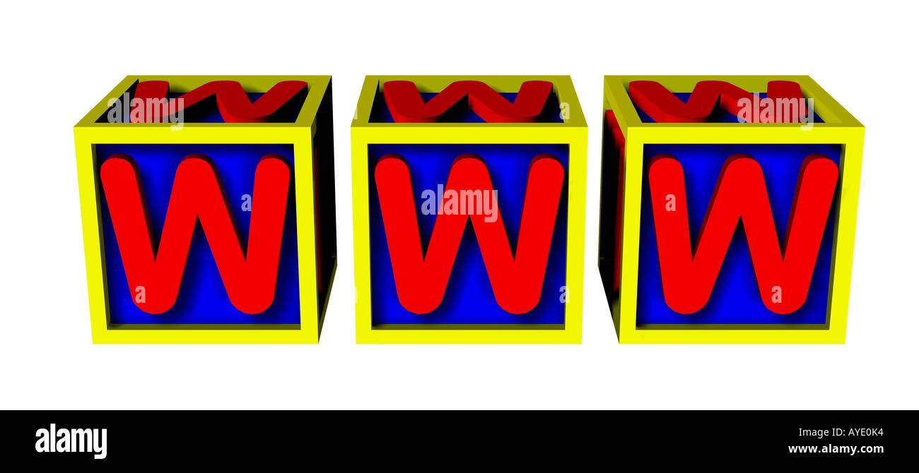 Wort World Wide web Stockbild