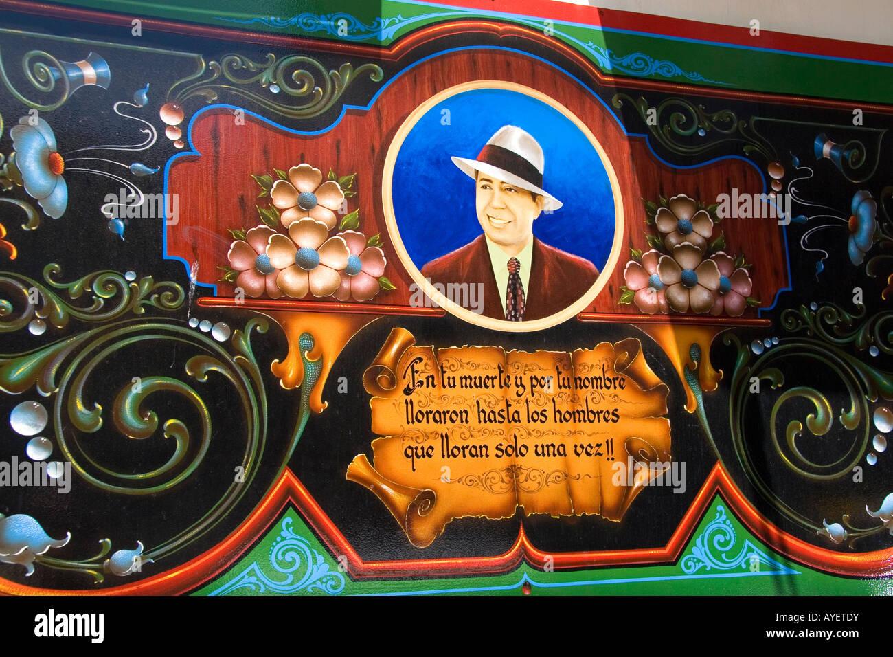 Wandbild von Carlos Gardel in Buenos Aires Argentinien Stockbild