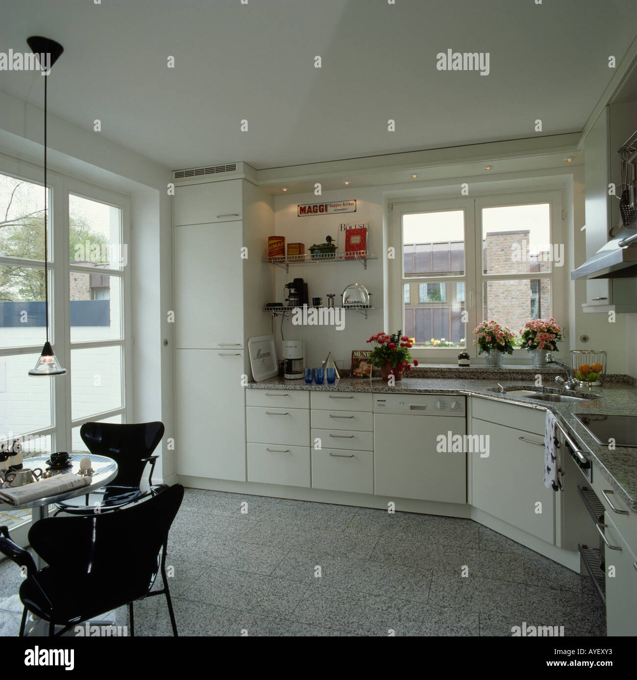 Diningrooms Interiors Kitchens Modern Stockfotos & Diningrooms ...