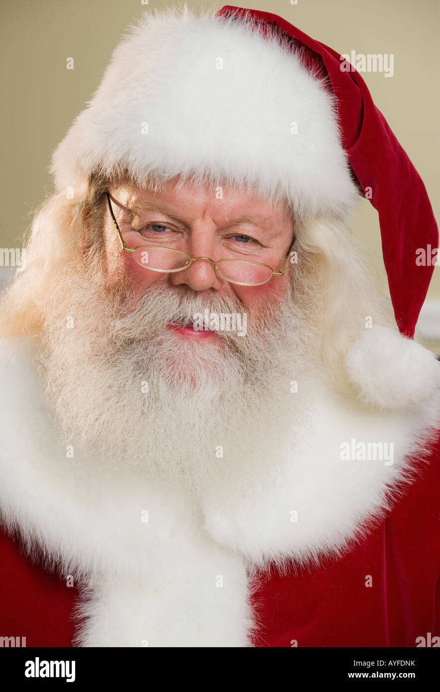 Porträt von Santa Claus Stockbild