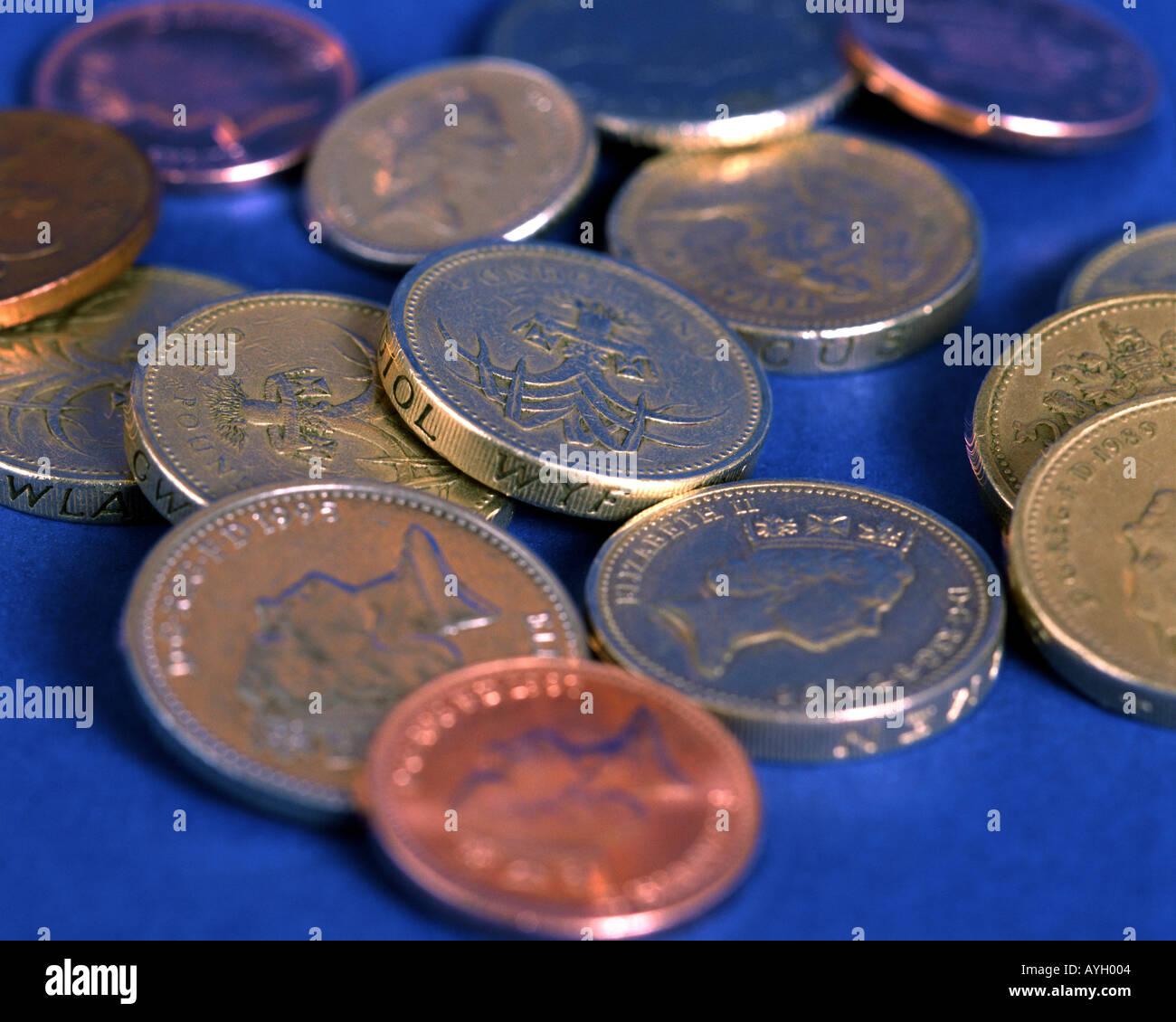 FINANZKONZEPT: Britische Währung Stockbild