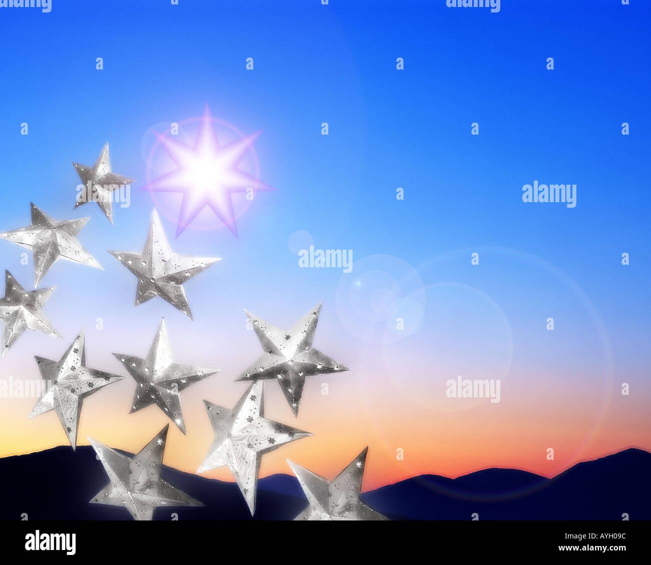 DIGITALE Kunst: Weihnachtsmotiv Stockbild