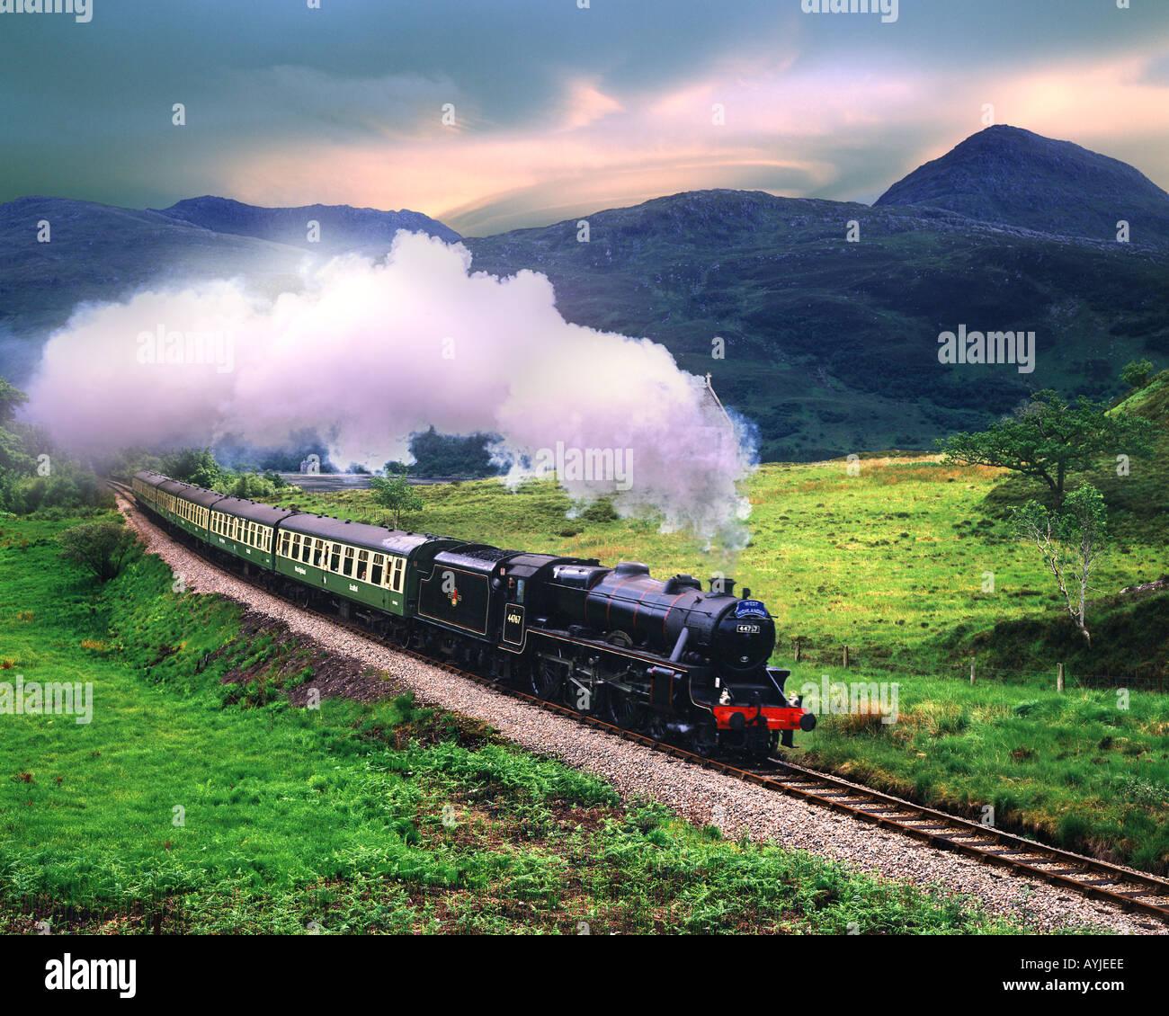 """GB - SCHOTTLAND: """"Die 'Jacobite Steam Train Stockbild"""