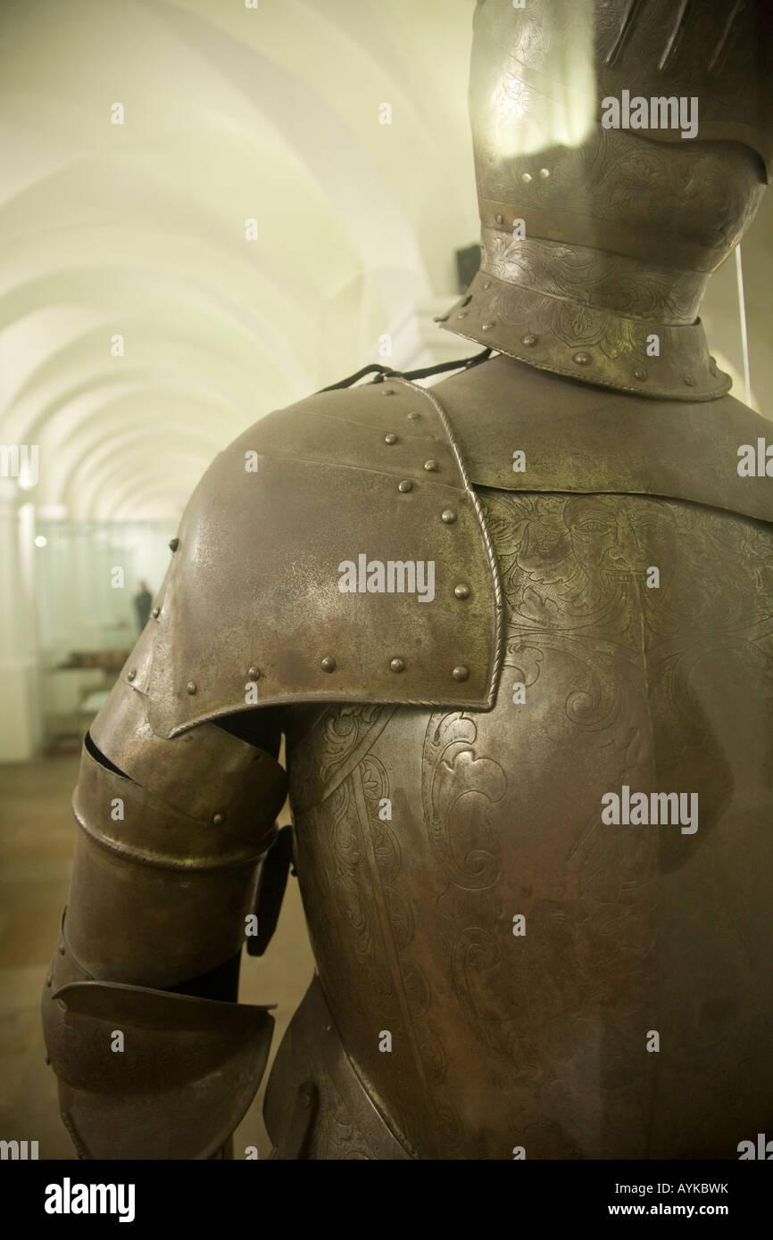 Klage der Rüstung Arbeit von den Spaniern in dem Museo Nacional in Bogotá Stockbild