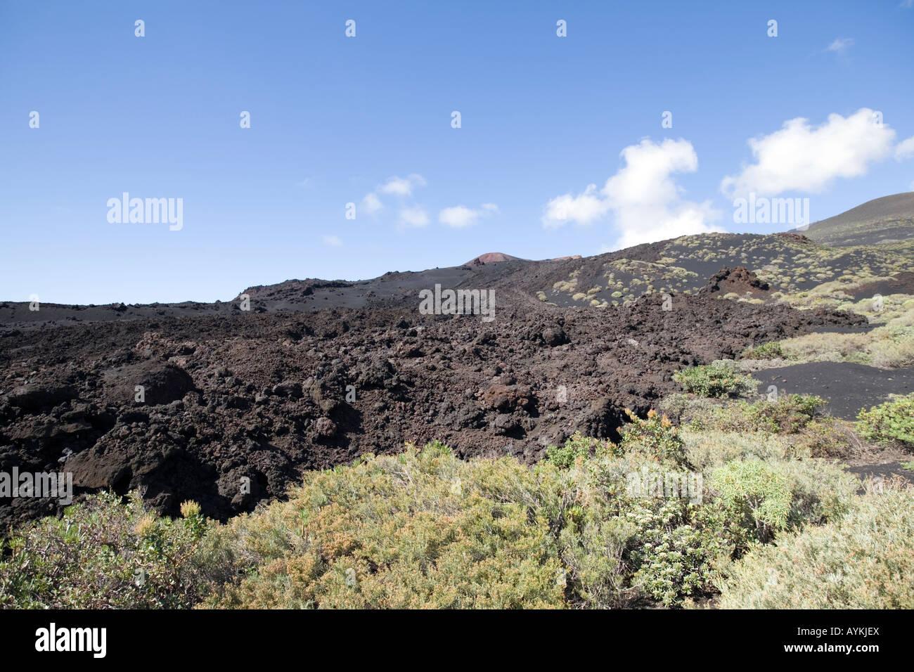 Vulkanischen Landschaft - Teneguia Stockbild