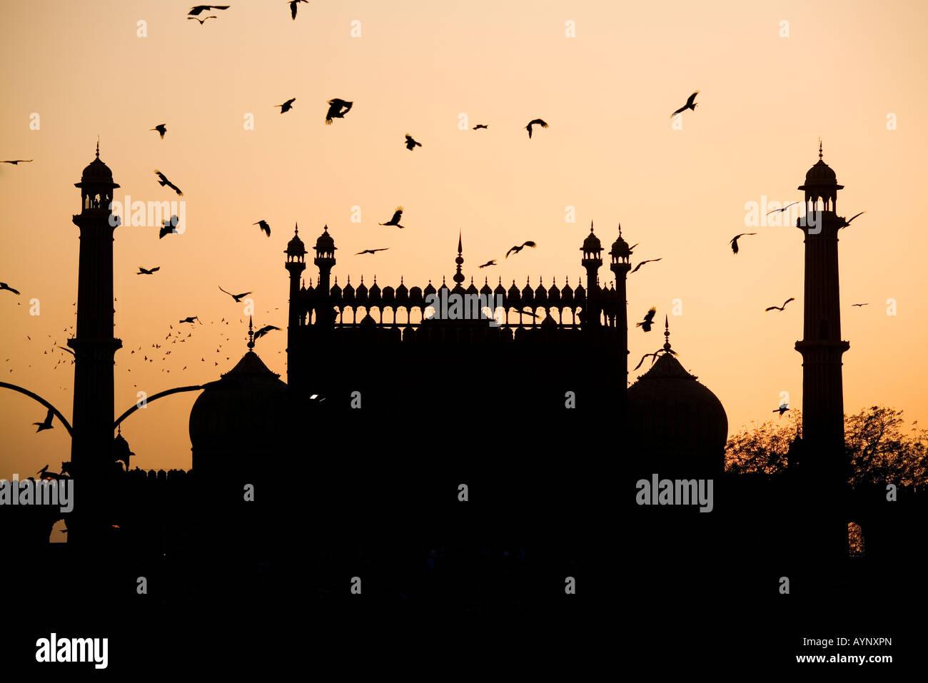 Jama Masjid, Delhi, Indien Stockbild