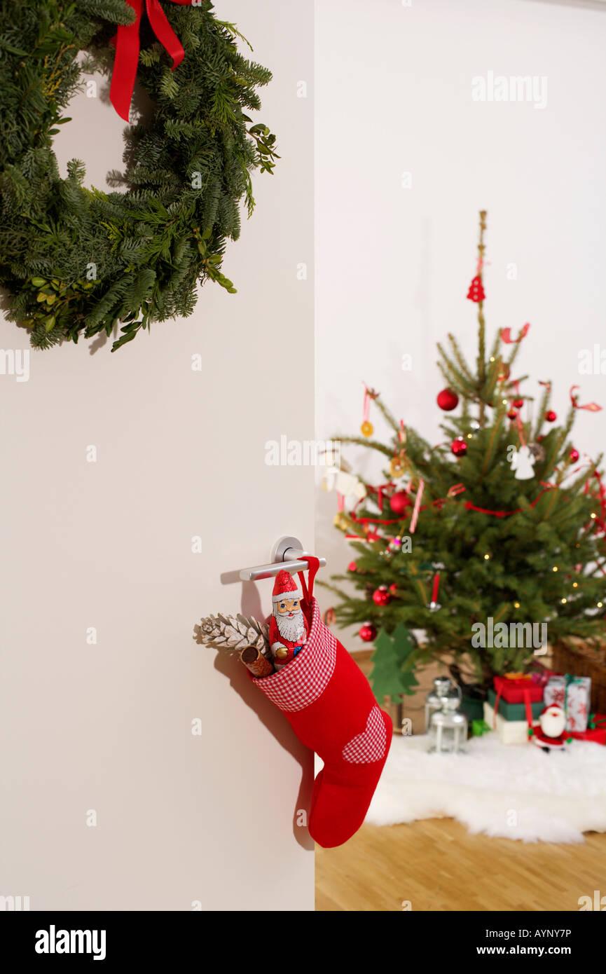 Blick in ein Weihnachts-Zimmer Stockfoto, Bild: 17153673 - Alamy