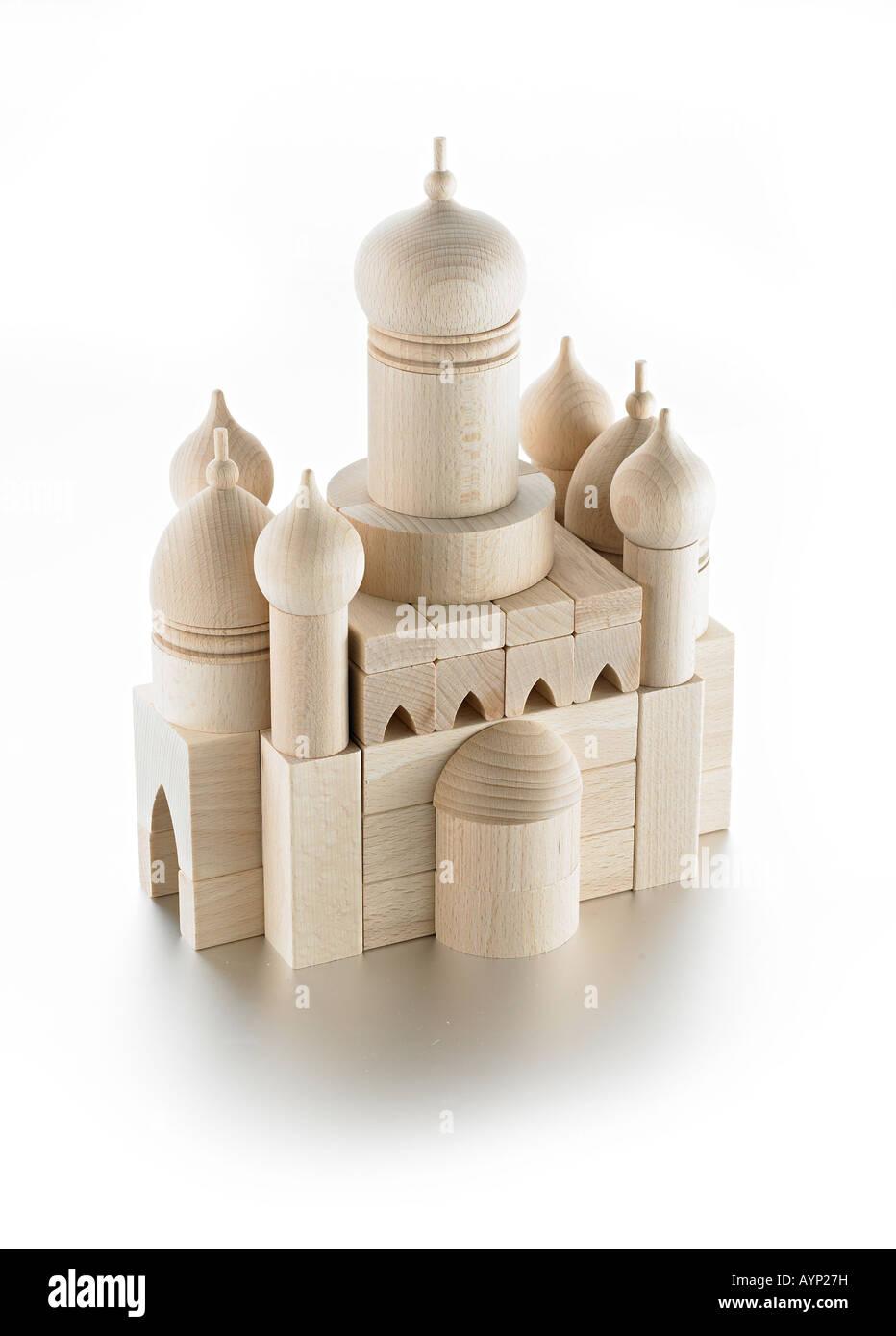 Holzspielzeug-Moschee Stockbild