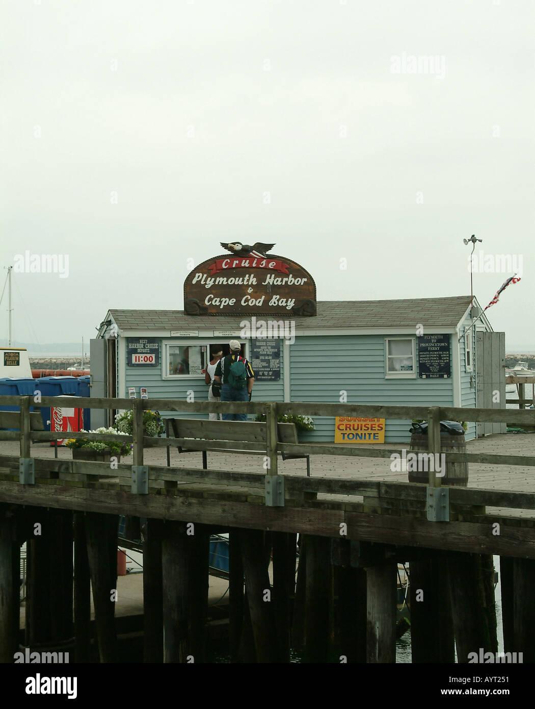 Kreuzfahrt Hafen von Plymouth und Cape Cod Bay Massachusetts USA Stockfoto