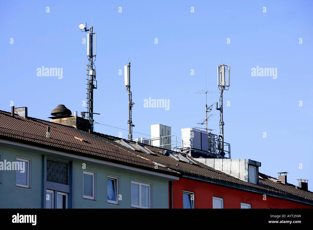 Mobilfunk Telekommunikation Antennen Stockbild