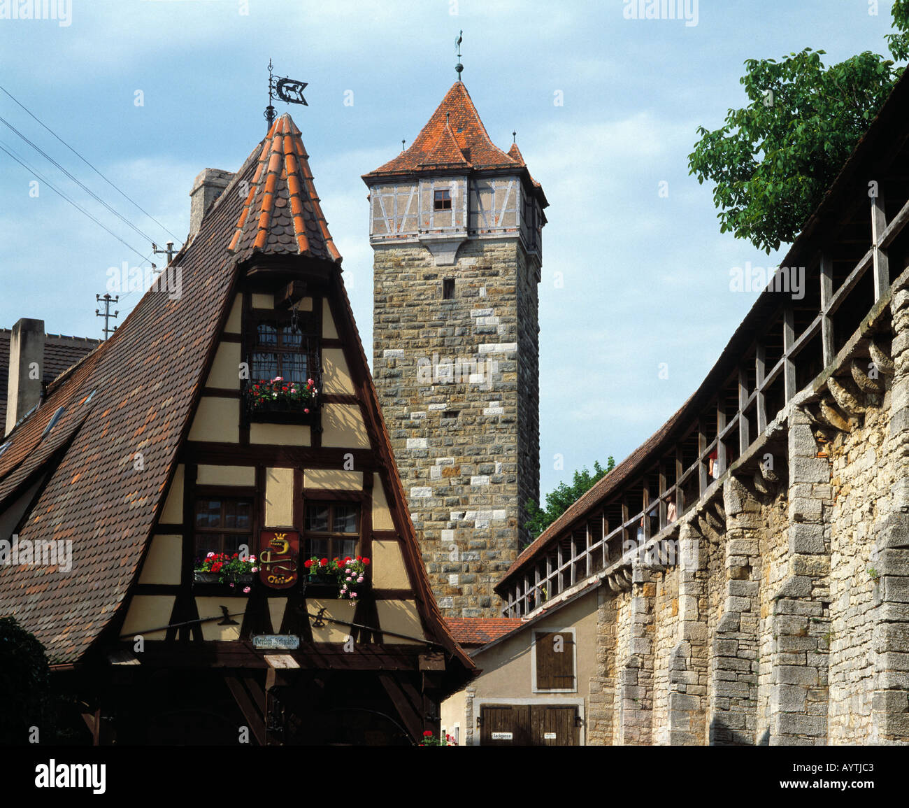 gerlachschmiede und roedertor in rothenburg ob der tauber tauber romantische strasse. Black Bedroom Furniture Sets. Home Design Ideas